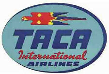 TACA Airlines  (Cental America)   Vintage-Looking    Sticker/Decal/Luggage Label
