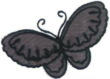 Black Organza Butterfly Embroidery Patch