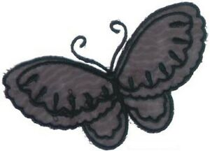 Noir Organza Papillon Broderie Patch