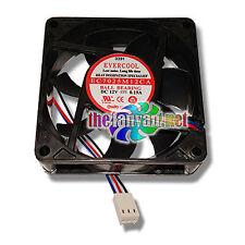Evercool EC7025M12CA 70mm x 25mm Ball Bearing Fan w/ 3 Pin Connector NEW!!!