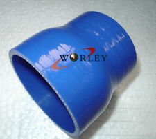 "2.5""-3"" INCH 63-76MM SILICONE HOSE STRAIGHT REDUCER JOINT intercooler pipe blue"