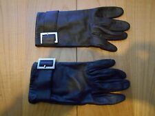 Brown Leather Gloves, Size Medium - Very Good Condition