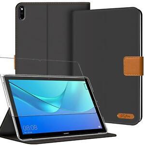 Tablet Schutz Hülle Für HUAWEI Klapp Tasche Slim Cover Case Glas Schutzfolie
