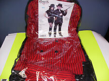 GANGSTER SUIT RED AND BLACK MEN HALLOWEEN COSTUME MEDIUM