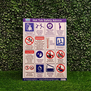 A4 Hot Tub Safety Sign | Perfect For Outside | Hot Tub Advice