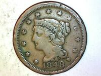 1848 Large Cent  Very Nice Coin 88