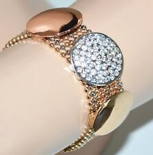 BRACCIALE argento oro rosa dorato donna strass multi fili elegante bracelet F335