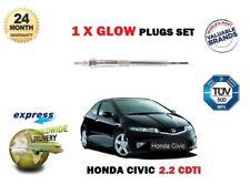 FOR HONDA CIVIC TYPE S 2.2CDTi 2007-> NEW DIESEL GLOW PLUG  x1