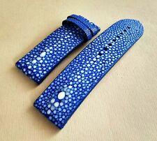 Franck Muller  24 / 24 mm Blue Cobalt Genuine Stingray Leather Watch Strap .