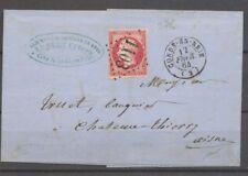 1864 Lettre 80c. Groseille Napoléon N°17 oblitération GC.1103. Superbe. X1344