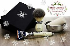 4 Pieces Men's Shaving Set With Fusion Razor.Perfect Gift For Him This Christmas
