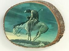 Vintage The Cherokees Qualla Reservation Decorative Wood Slice Wall End of Trail