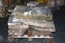 Sandsteine Alt alte Sandsteinplatten Terrassenplatten Gehwegplatten Trockenmauer