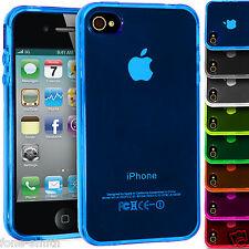 translúcido Goma Agarre de GEL CARCASA FUNDA TPU para Apple iPhone 4 / 4s