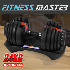 24kg Adjustable Dumbbell Home Gym Exercise Equipment Weight Fitness