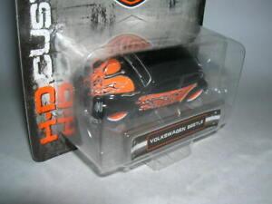 Maisto Harley-Davidson Customs VW Volkswagen Beetle Black Orange Blister, 1:64