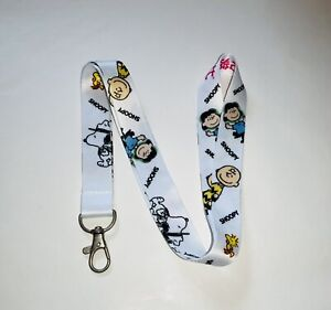 SNOOPY Character LANYARD Peanuts Charlie Brown Woodstock White CC