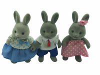 Calico Critters Sylvanian Families Forest Families Hasi Rabbit Family RARE HTF