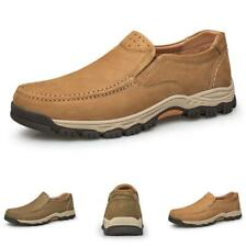 Men Outdoor Hiking Faux Leather Shoes Pumps Slip on Sports Walking Non-slip 46 L