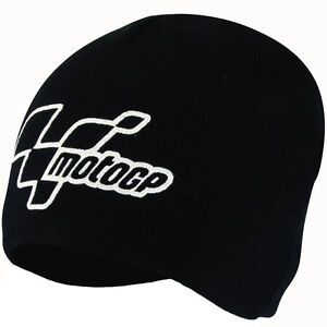 MotoGP BLACK Beanie Bike-It Biketek Thermal Motorbike Hat