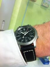 Seiko 5 Automatic.SNK809k2.With quality black leather strap fitted