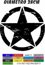 ADESIVI AUTO U.S. ARMY 4X4 SUZUKI JEEP STELLA DIAMETRO 28CM MILITARE COD127