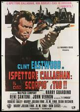 DIRTY HARRY Italian 4F movie poster 55x79 CLINT EASTWOOD HARRY CALLAHAN