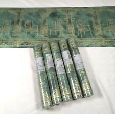 Foremost Wallpaper Border Green Gold Arch Dining Chair Columns 5 Roll Lot Roman