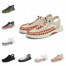 Big Size Mens Summer Hollow Woven Sports Slingback Sandals Beach Shoes Flat