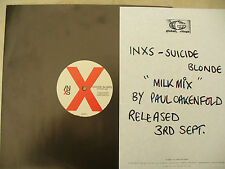 INXS SUICIDE BLONDE MILK MIX promo with company flyer