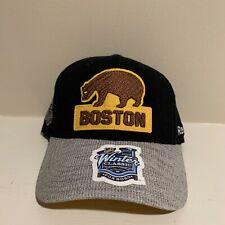 Boston Bruins Throwback Reebok Stretch Fitted Hat NHL Hockey One Size YOUTH KIDS