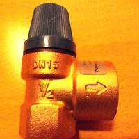 """Membran-Sicherheitsventil 1/2"""" x 3/4"""" 8 bar Sicherheitsventil Ventil Trinkwasser"""