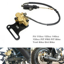 Motorcycle Hydraulic Rear Disc Brake Caliper w/ Master Cylinder Brake System Kit