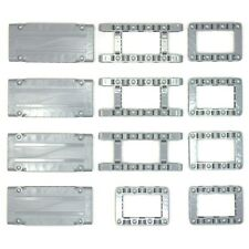 Lego Technic Medium Stone Grey Studless Frames Boxes Panels #2 - 12 Parts - NEW