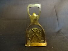 Brass Bottle Opener With Crossed Guns And Marksmen Target