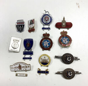 Various Vintage UK 1960s RAC Enamel Car Rally Pin Badges Souvenir X 12