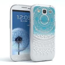 Hülle für Samsung Galaxy S3 / Neo Schutz Cover Handy Case Motiv Blau / Weiß