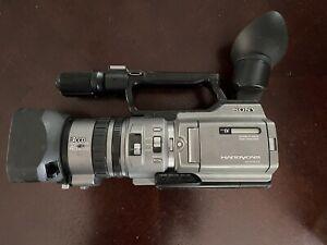 Sony DCR-VX2100 3CCD Progressive Scan HandyCam With Opteka Fish Eye