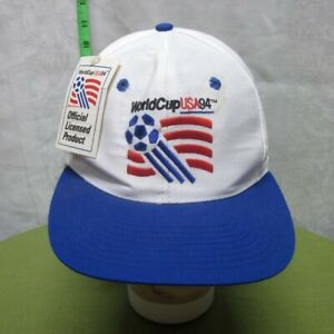 WORLD CUP beat-up soccer hat 1994 embroidery cap w/ tags Logo 7 futbol FIFA