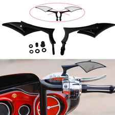 Large Blade Motorcycle Side Mirrors Gloss Black For Harley Davidson Street Glide