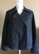 Ann Taylor Loft Peacoat Lined Jean Jacket Women's Size Medium