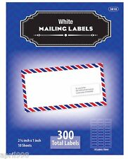 "BAZIC 2.65"" X 1"" White Mailing Address Labels (300/Pack) #3818"