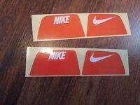 Nike Visionshield Visor for ORANGE Football Helmet Licensed Decals (2) Sets