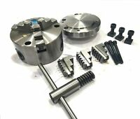 100MM FRONT LOAD 3 JAW SELF CENTERING CHUCK WITH REVERSIBLE JAWS & BACKPLATE