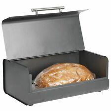 mDesign Metal Kitchen Countertop Bread Box, Home Storage Bin - Charcoal Gray