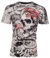 XTREME COUTURE by AFFLICTION Mens T-Shirt TOOTHACHE Skull Tattoo Biker $40 a