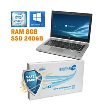 "COMPUTER NOTEBOOK HP ELITEBOOK 8460P I7 2620M 14"" RAM 8GB SSD 240GB  GRADO B."