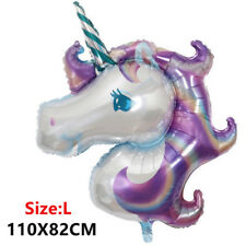 Rainbow Unicorn Foil Balloons Birthday Party Decorations Supplies Fashion