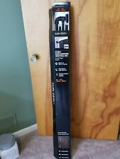 "Bronn Curtain Double Rod Hardware Set- Black Industrial Rod Sun Zero 66"" - 120"""