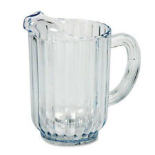 Rubbermaid Fg333800Clr Clear Plastic Pitcher - 60 oz., With Ice Lip